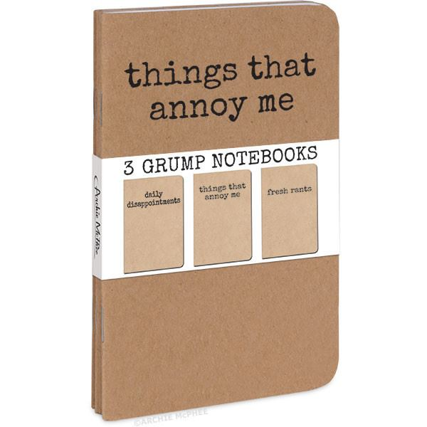 Grump Notebooks Set of 3