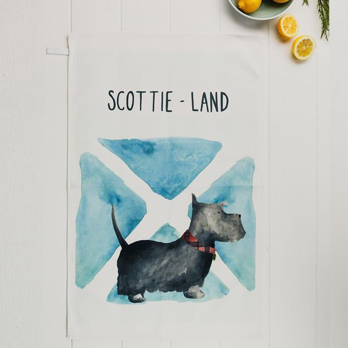 SCOTTIE-land Scottie Dog Tea Towel