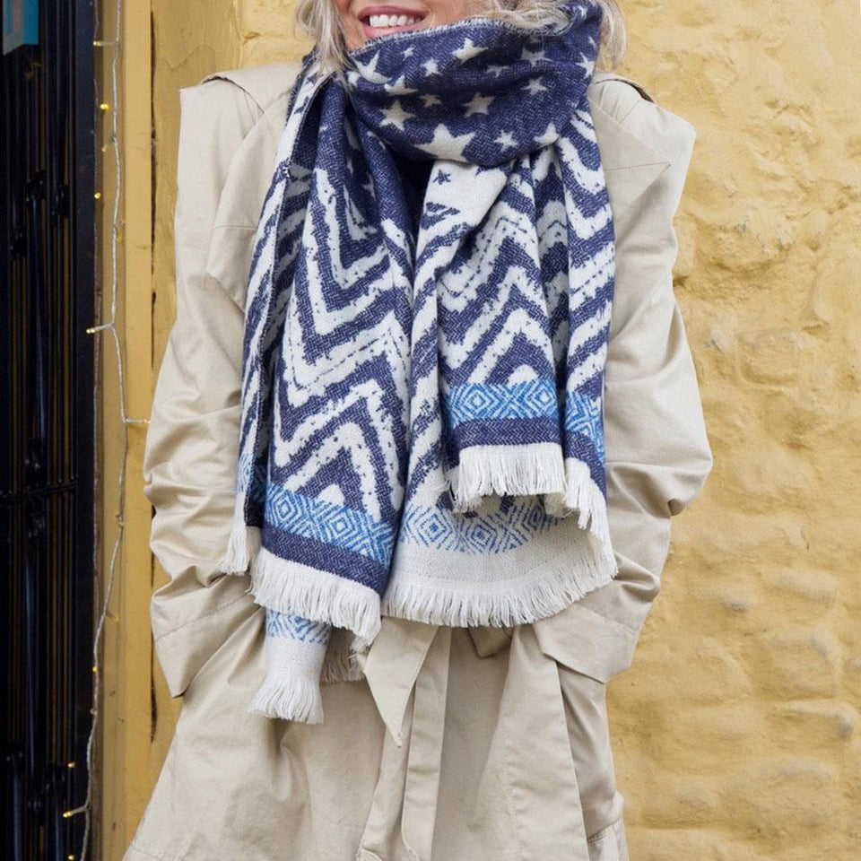 Blue Starry Blanket Scarf
