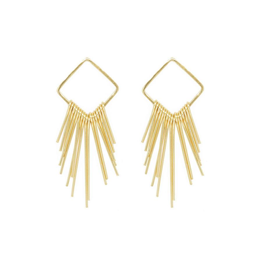 Gold Spike Dream Catcher Earrings