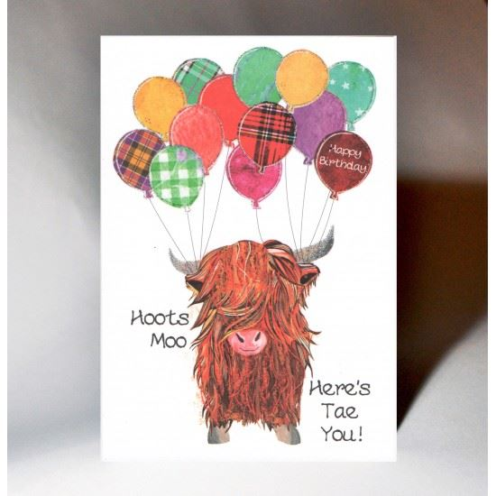 Hoots Moo Birthday Card