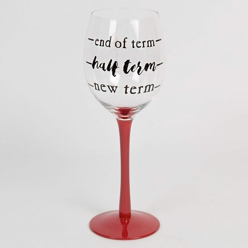 Thank You Teacher Wine Glass