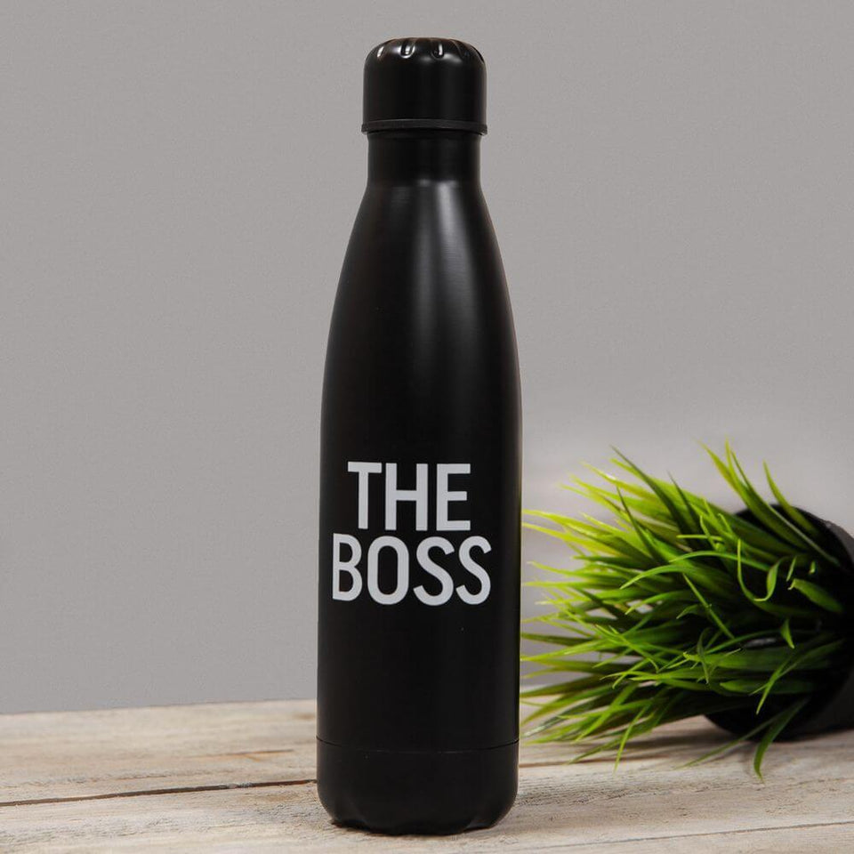 The Boss Black Aluminium Drinks Bottle