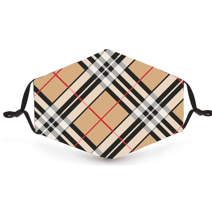 Camel Thompson Tartan Reusable Face Mask