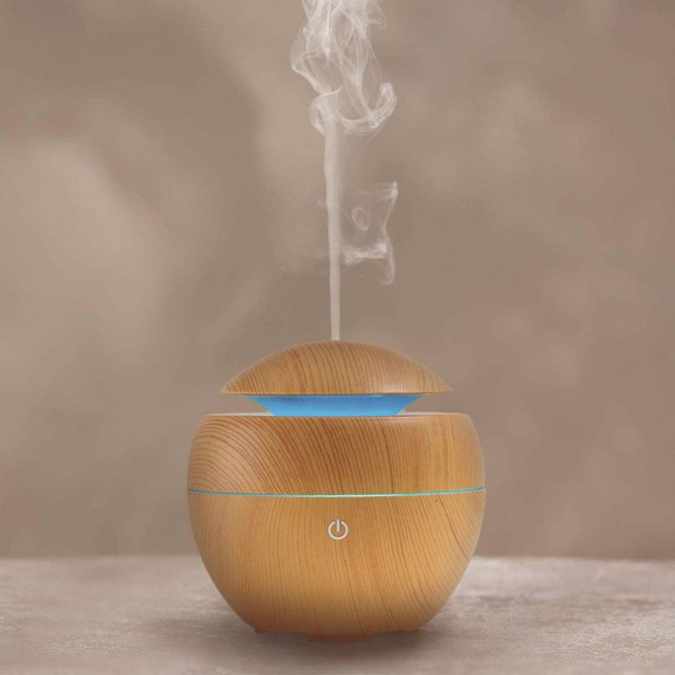 Light Wood USB Diffuser with Essential Oil