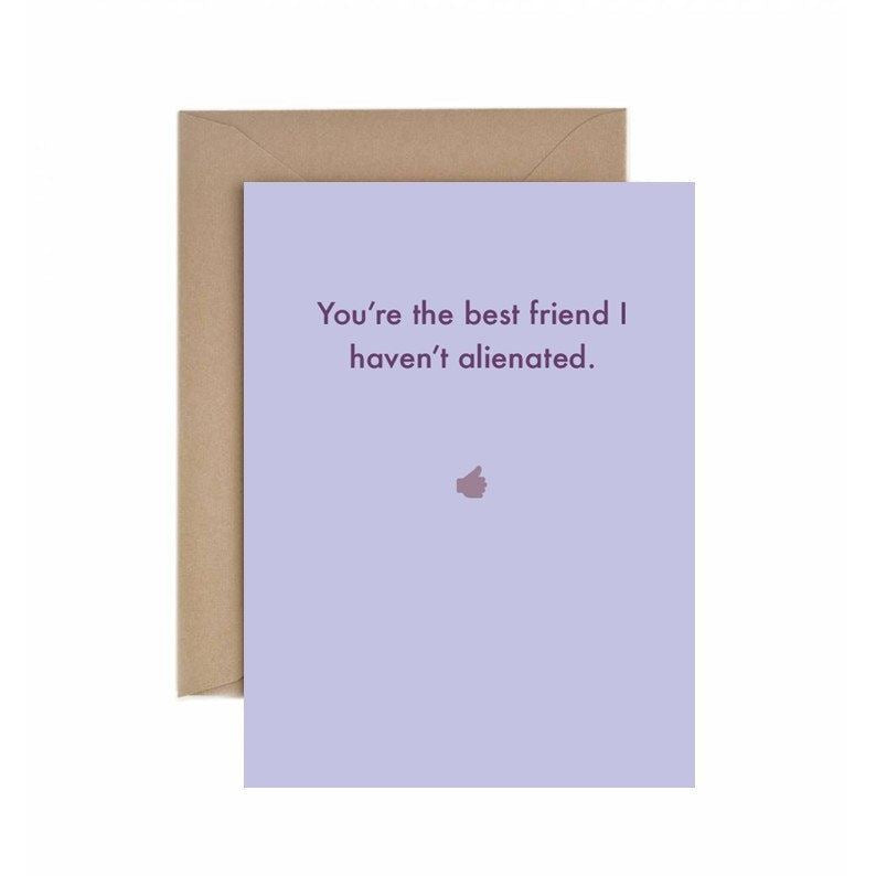 Best Friend Alienated Card