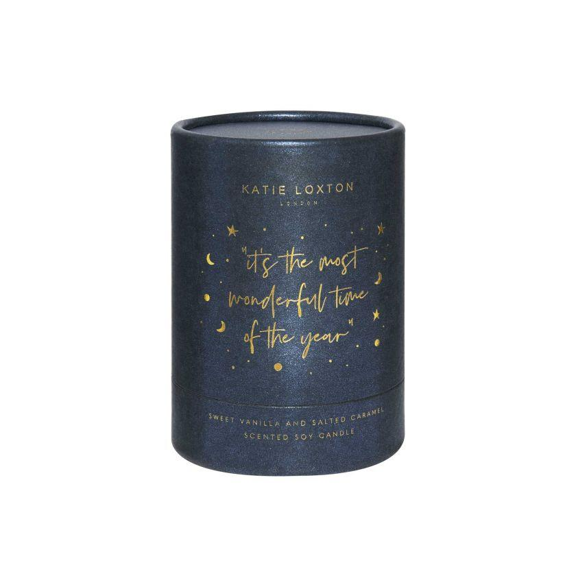 Most Wonderful Time Navy Shimmer Candle