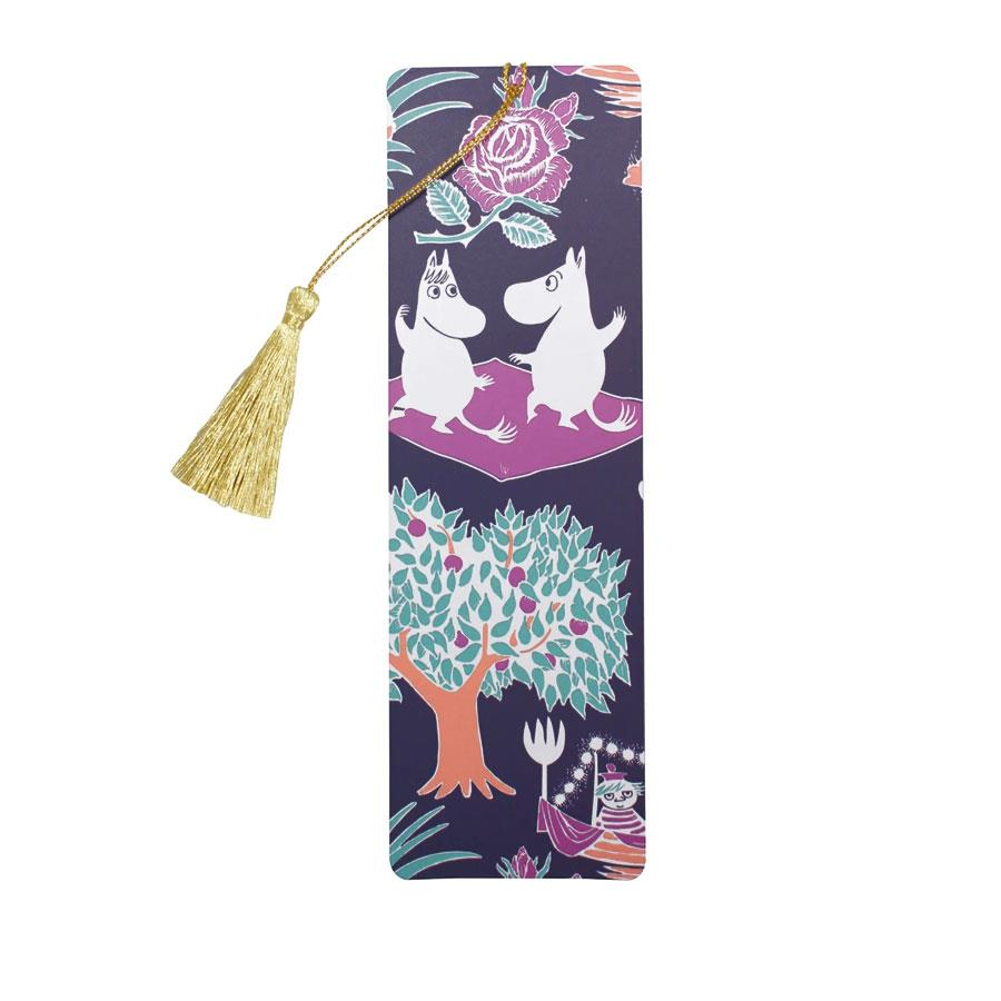 Navy Moomin Bookmark with Tassel