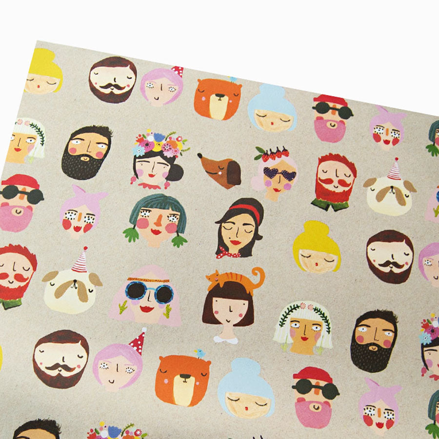Faces Gift Wrap