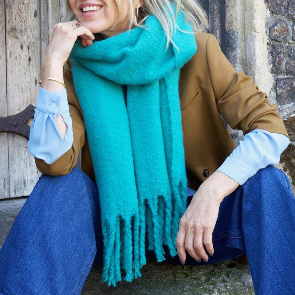 Teal Green Blanket Scarf