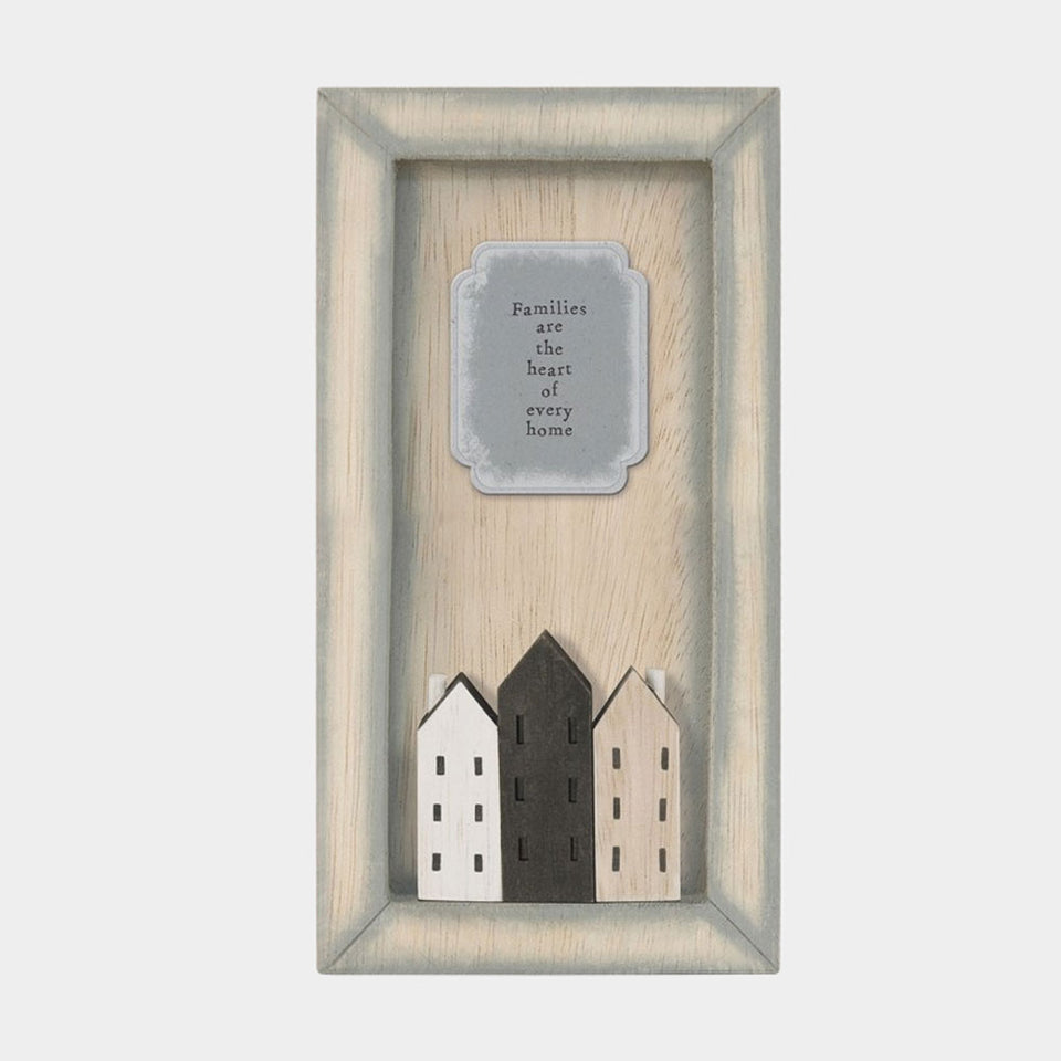 Families Are The Heart Long Picture Frame Decoration