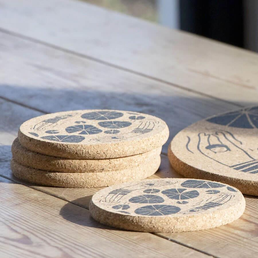 Wild Swimmers Cork Coaster Set