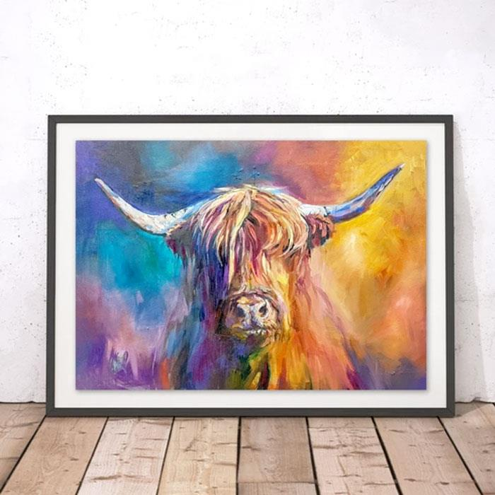 Sue Gardner Harris Cow Art Print