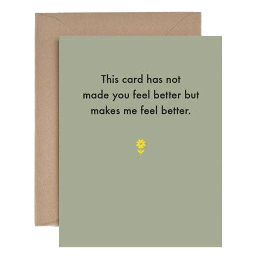 Make Me Feel Better Get Well Card