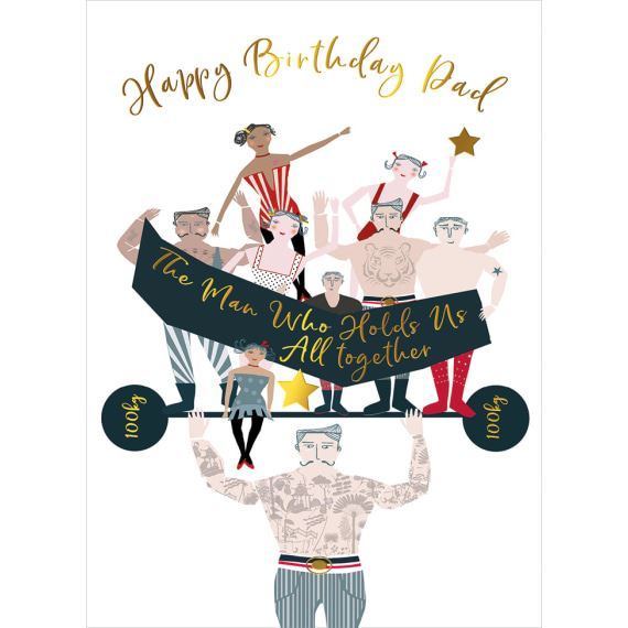 Dad Strongman Birthday Card