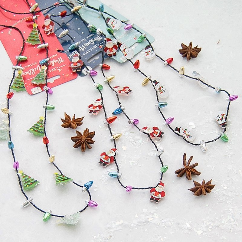 Flashing Assorted Christmas Necklace - Assorted Designs