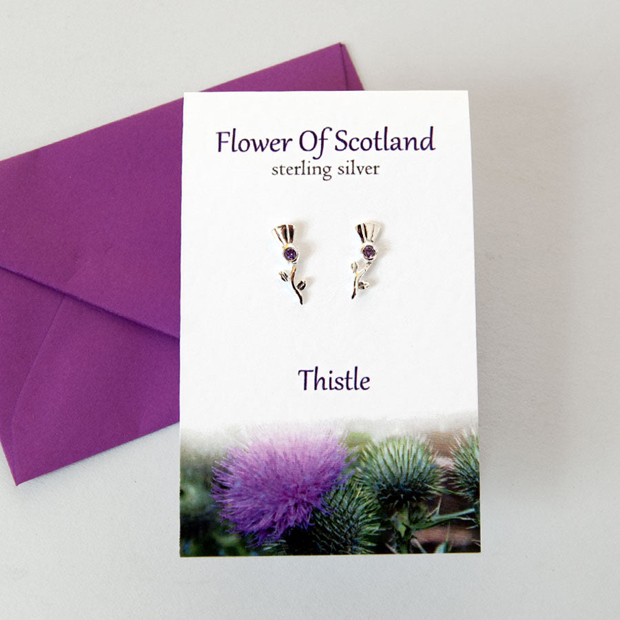 Flower Of Scotland Stud Earrings