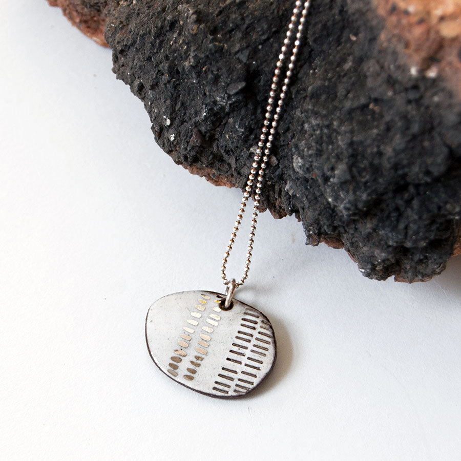 Fossil Ceramic Pendant Necklace