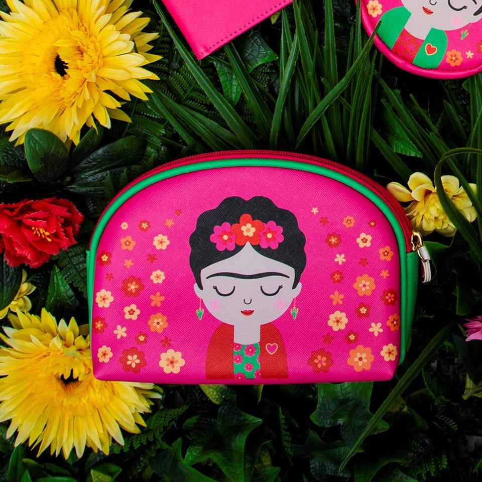Boho Fiesta Frida Kahlo Cosmetic Bag
