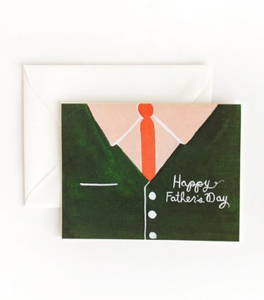Green Cardigan Fathers Day Card