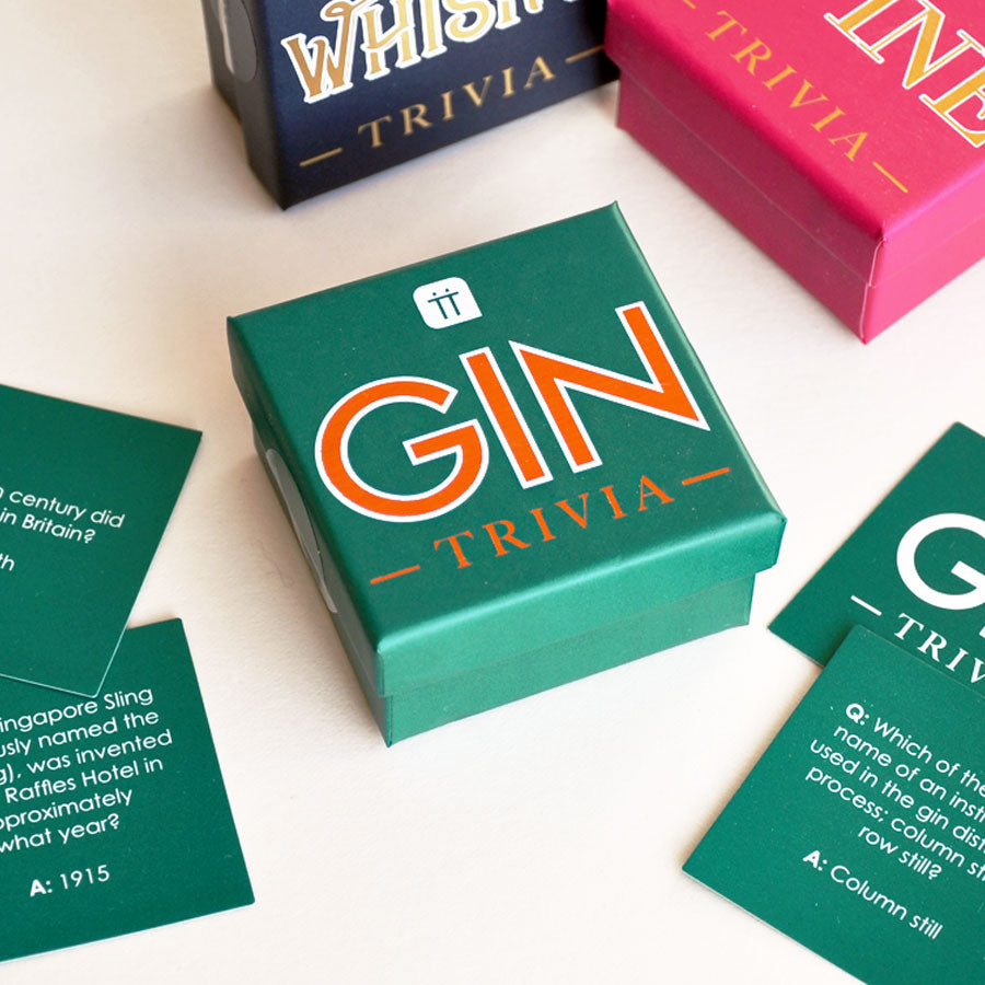 Mini Gin Trivia Cards