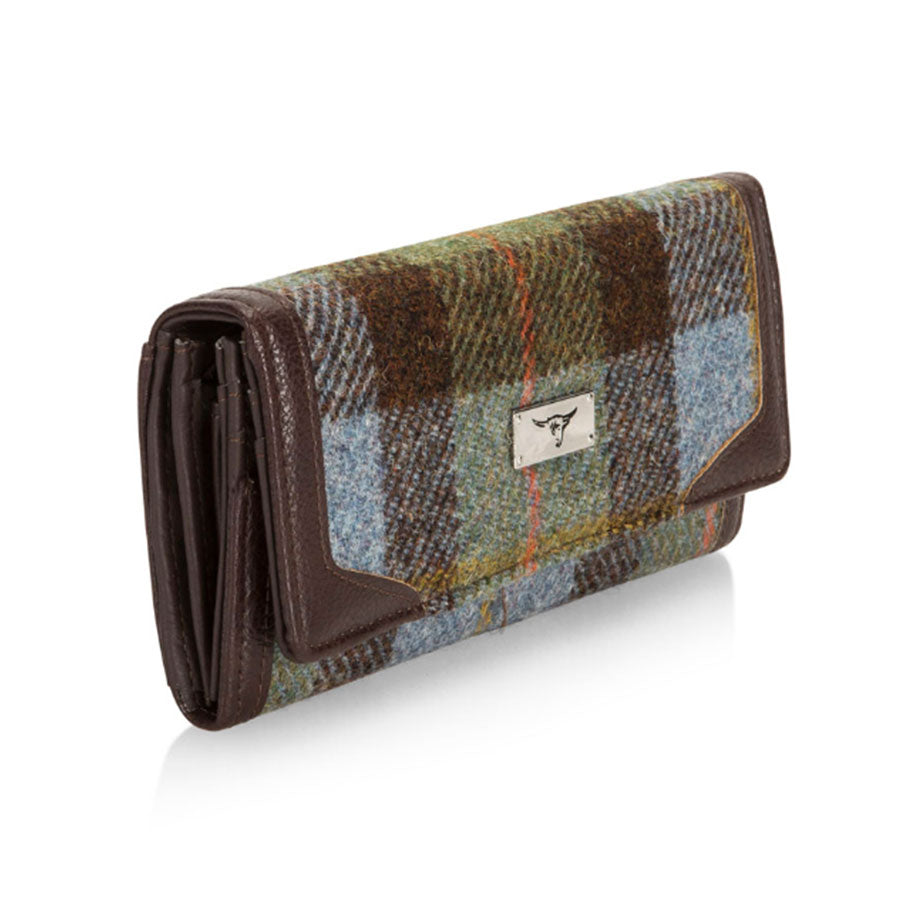 Harris Tweed Bute  MacLeod Tartan Long Purse