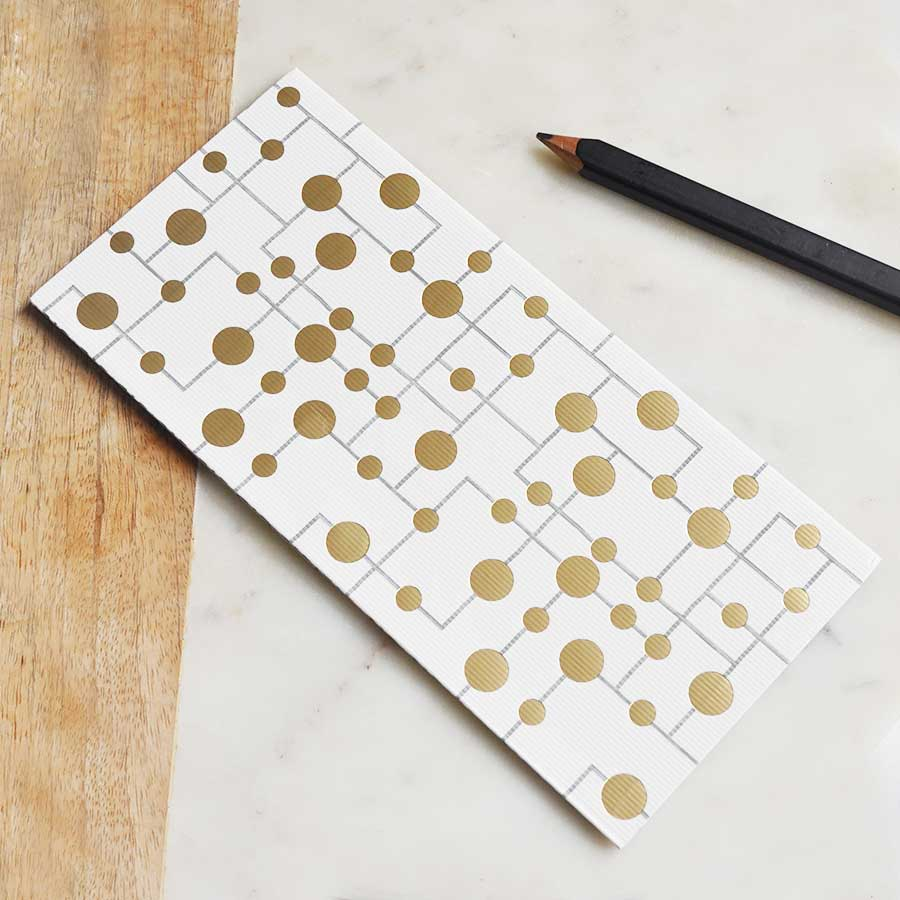 Gold Dots Geometric Money Envelope