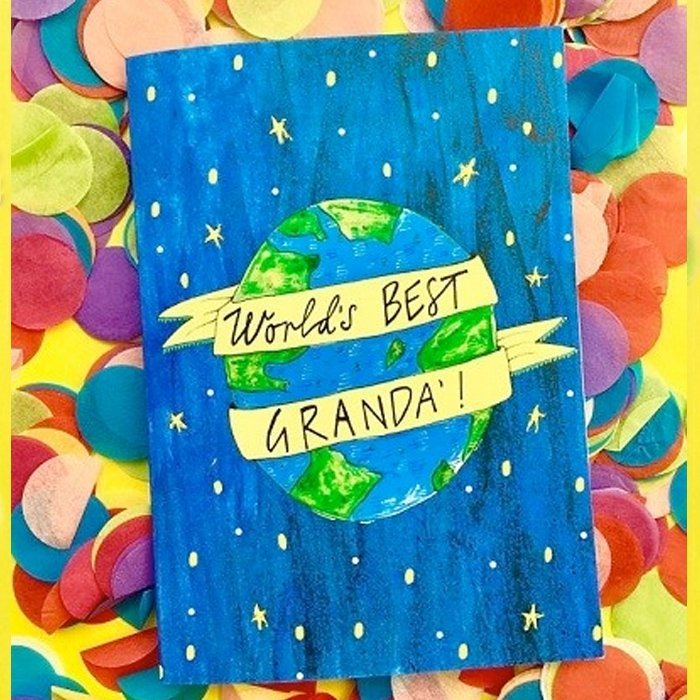 Worlds Best Granda! Planet Card
