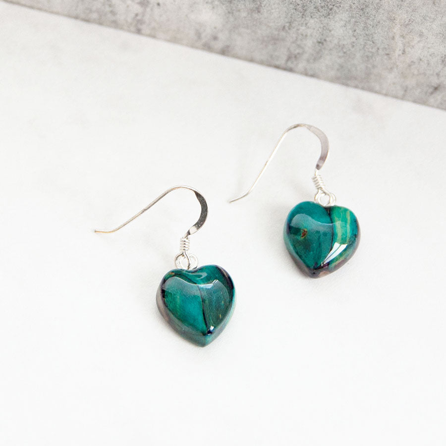 Heather Heart Drop Earrings