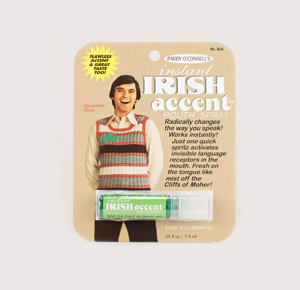 Instant Irish Accent Mouth Spray