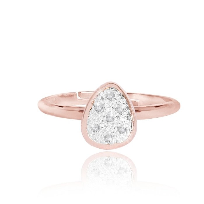 Pave Pebble Ring | Rose Gold & Silver