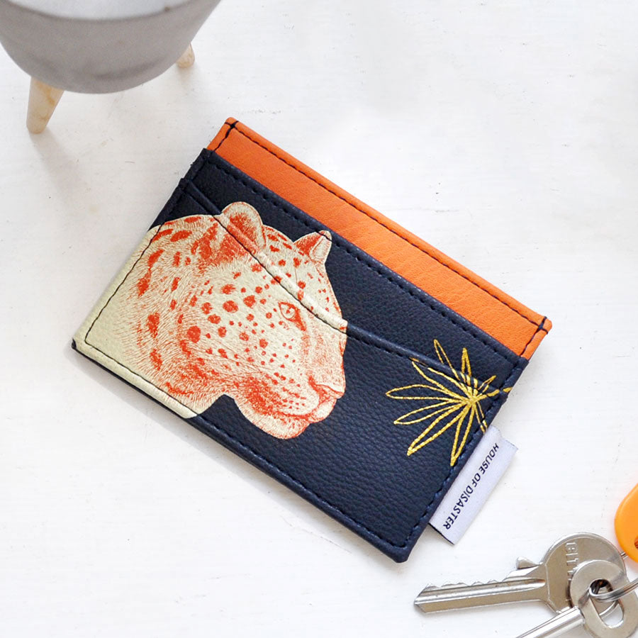 Heritage and Harlequin Leopard Card Holder
