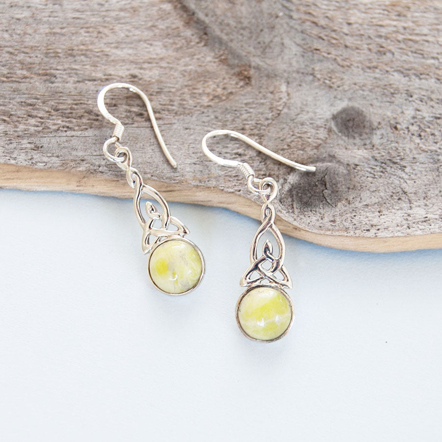 Highland Marble Celtic Trinity Earrings