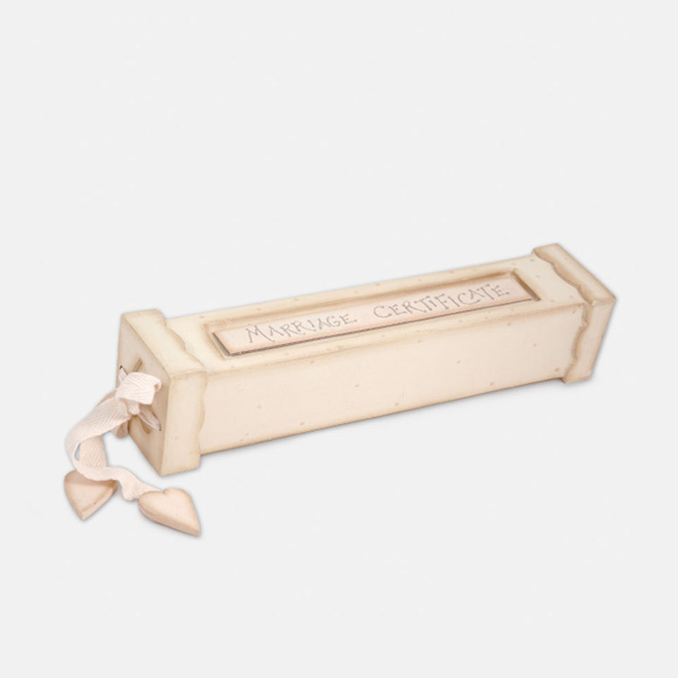 Wooden Marriage Certificate Holder