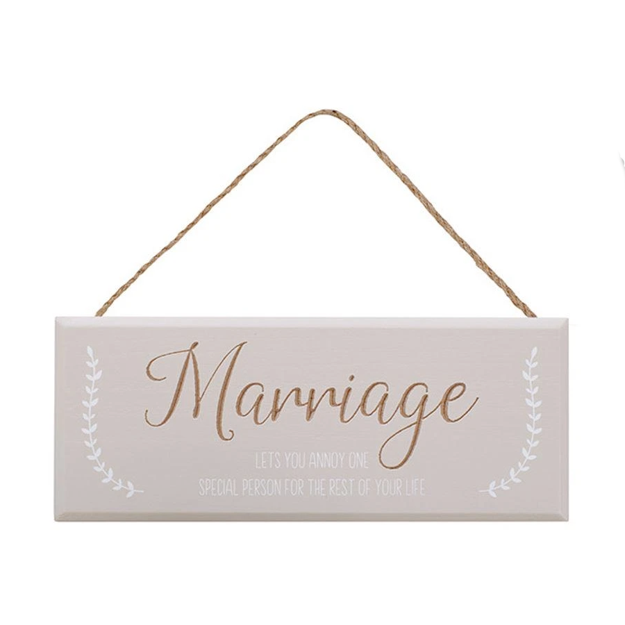 Marriage Annoy Special Person Grey Plaque