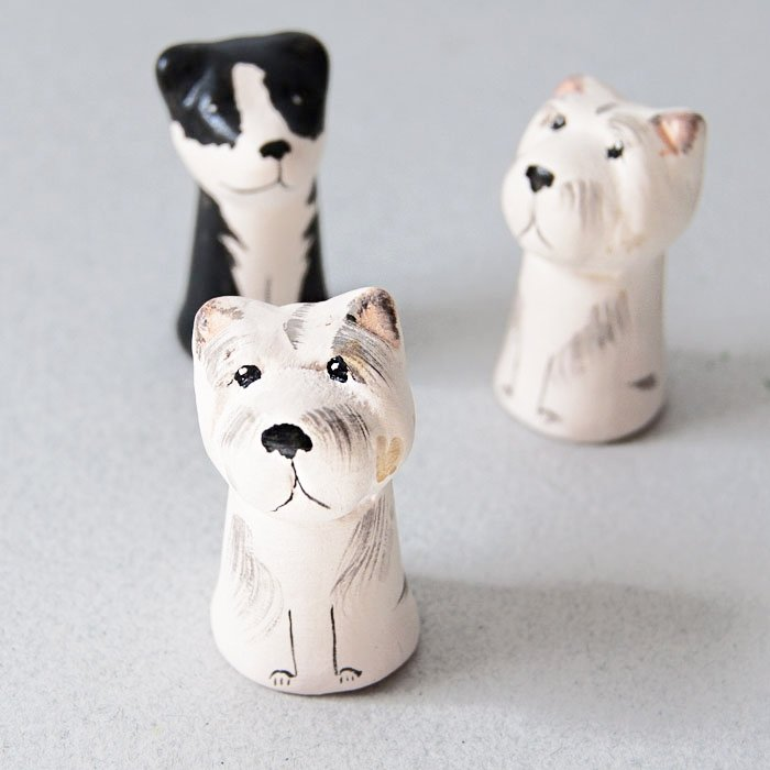 Ceramic Dog Thimble