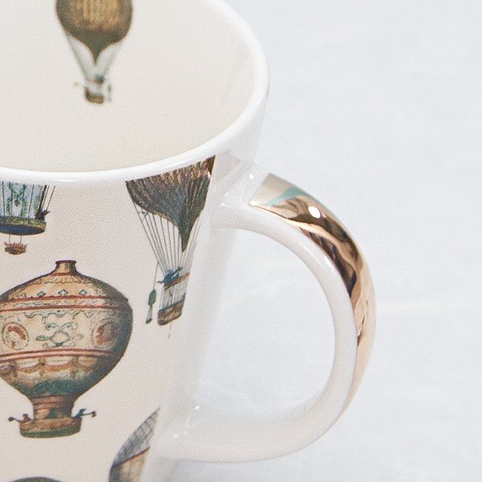 Mongolfiere Hot Air Balloon Mug | Real Gold Detail