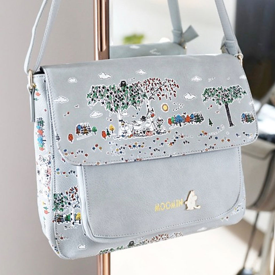 Moomin Satchel With Grey Meadow Print