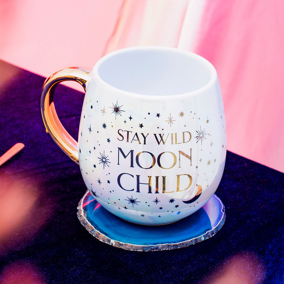 Celestial Moon Child Ceramic Mug