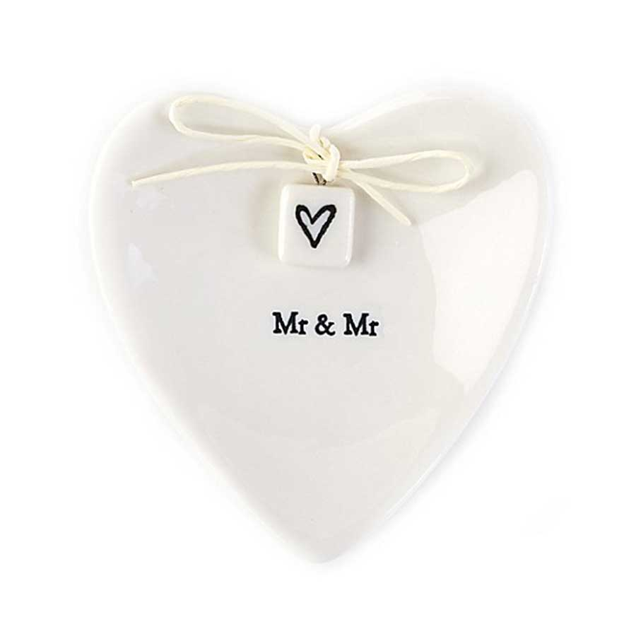 Mr & Mr Porcelain Ring Dish