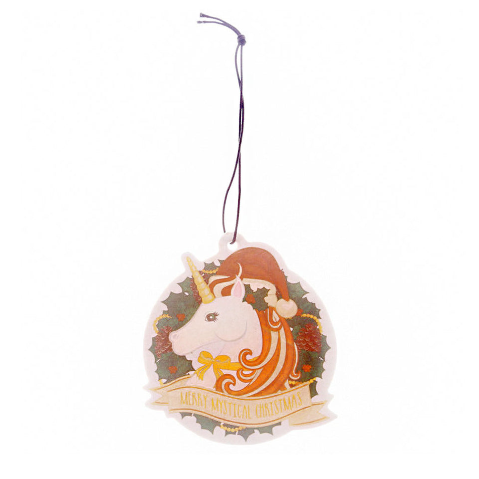 Vanilla & Nutmeg Unicorn Christmas Air Freshener