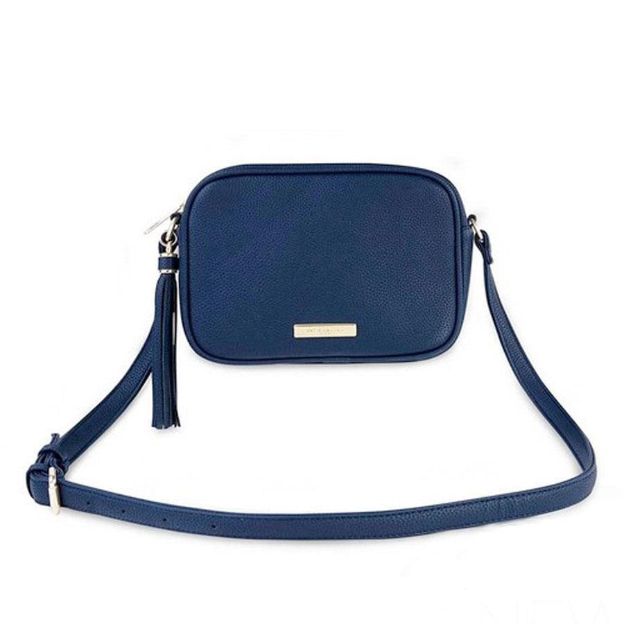 Navy Blue Sophia Tassel Cross Body Bag