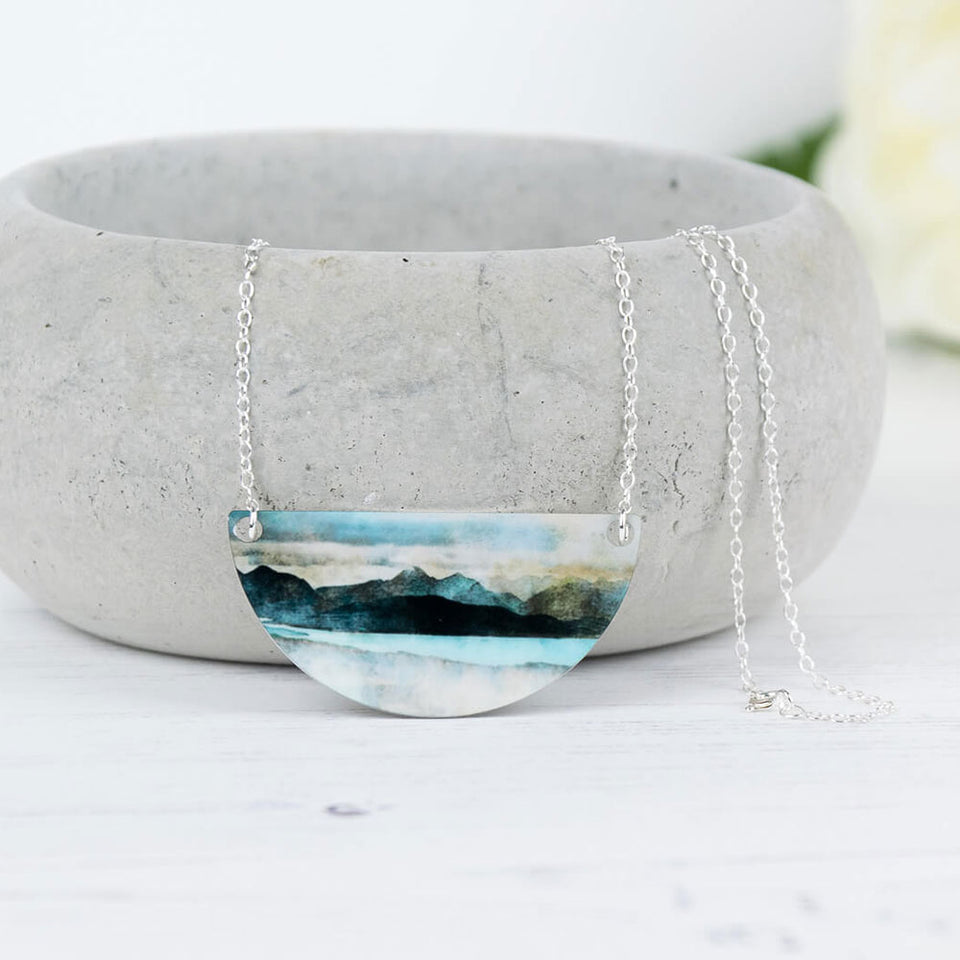 Skye from Bealach Aluminium and Silver Necklace