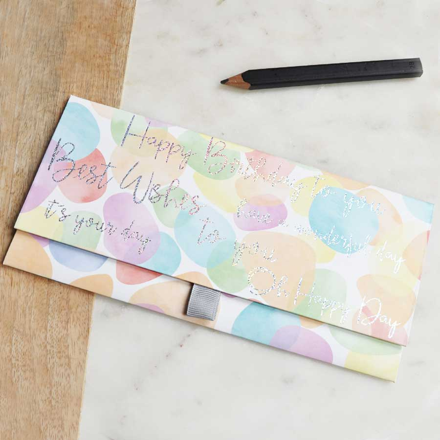 Birthday Multi Pastel Colour Money Envelope