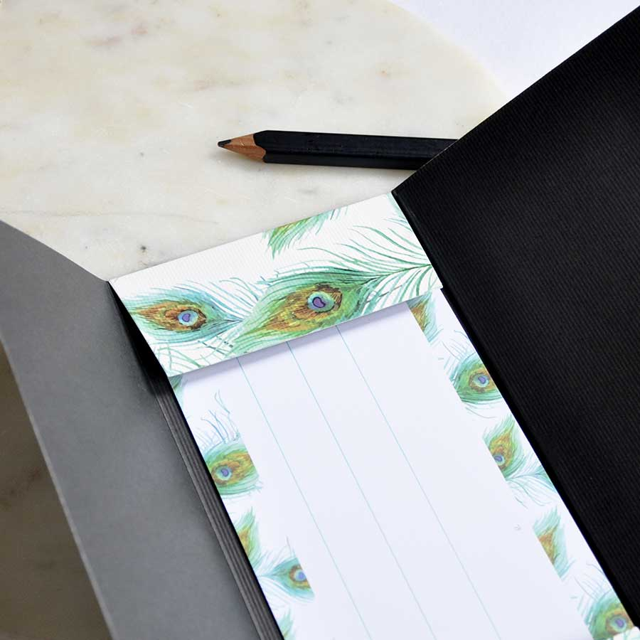Peacock Gold Print Money Envelope