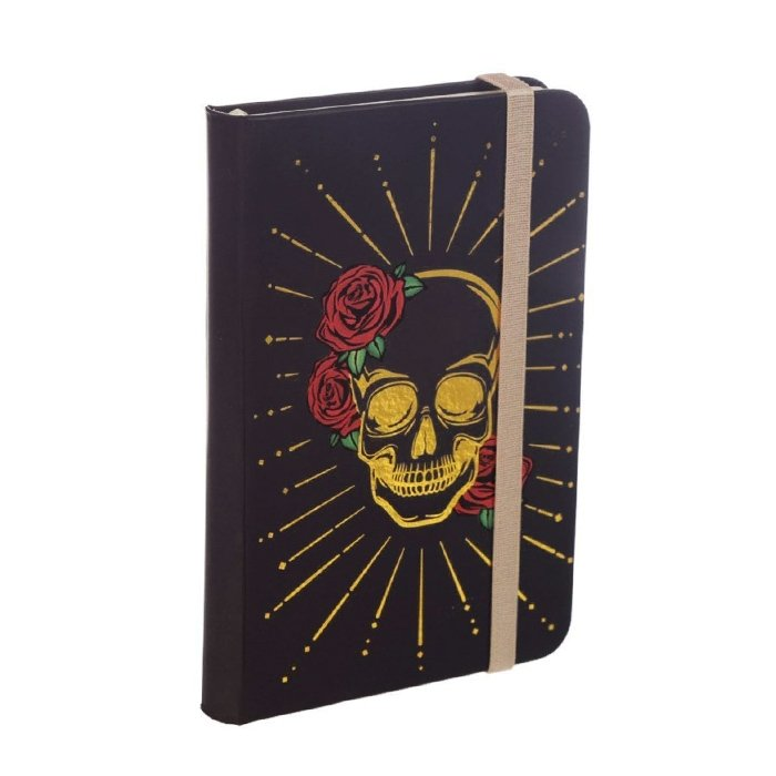 Black & Gold Skull Notebook