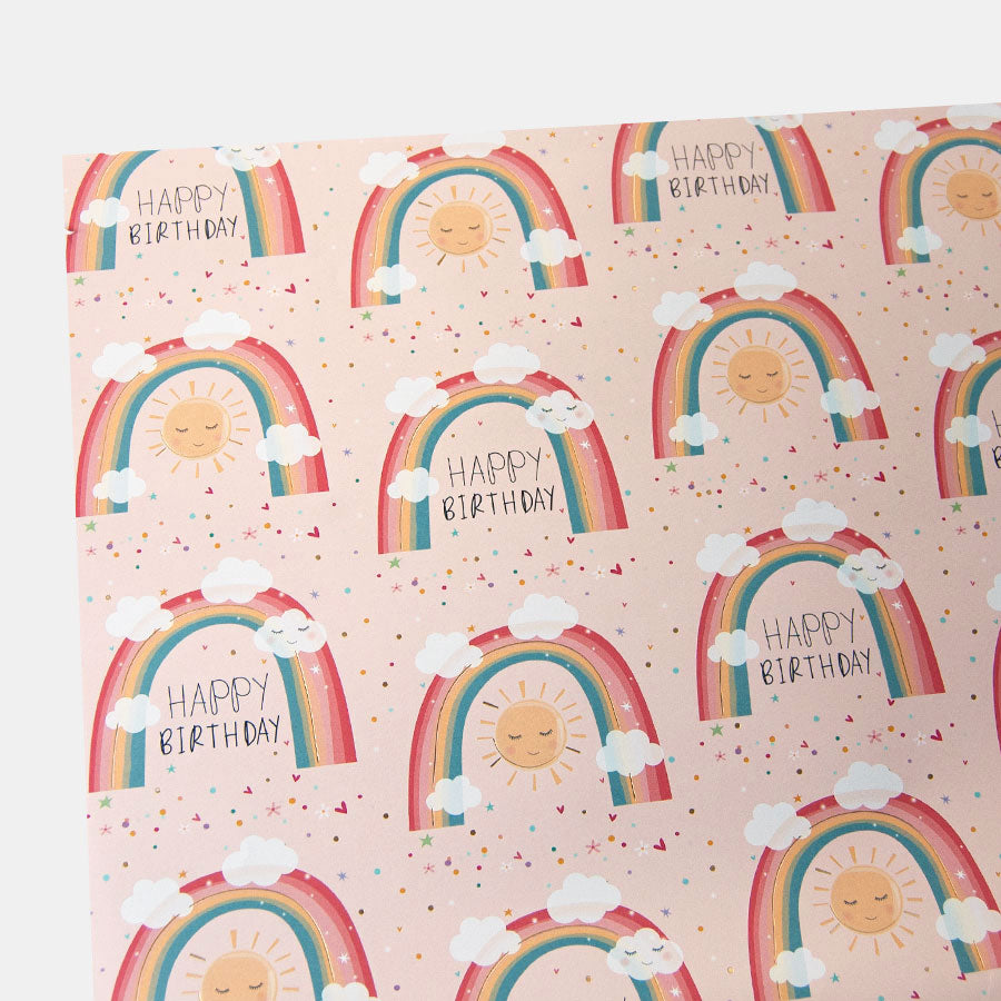 Electric Dreams Rainbows Birthday Wrapping Paper
