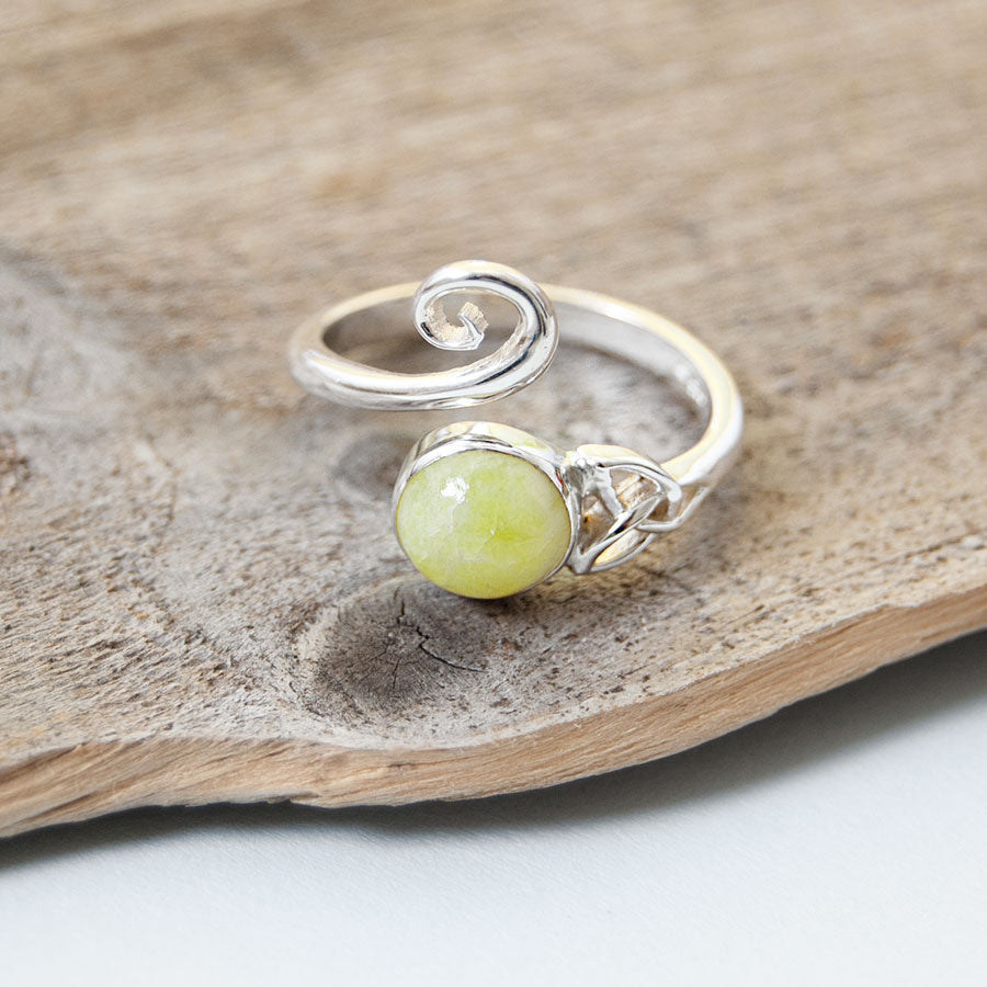 Celtic Trinity Highland Marble Ring