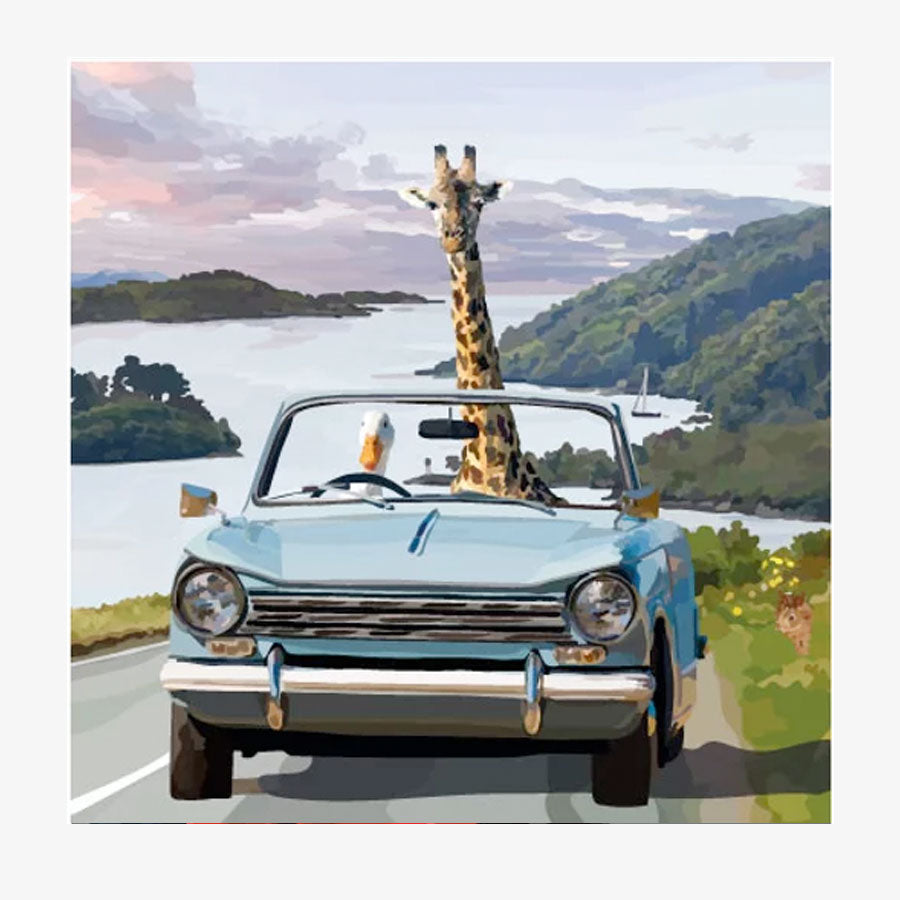 Goose and Giraffe Road Trip Card