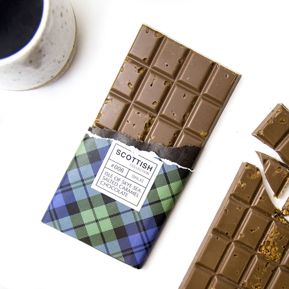 Isle of Skye Sea Salt & Caramel Milk Chocolate Bar